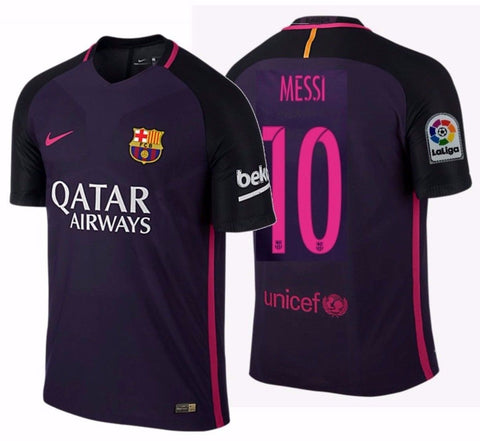 NIKE LIONEL MESSI FC BARCELONA AUTHENTIC VAPOR MATCH AWAY JERSEY 2016/17 QATAR.