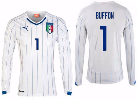 PUMA GIANLUIGI BUFFON ITALY LONG SLEEVE AWAY JERSEY FIFA WORLD CUP 2014 1