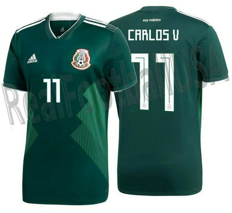 ADIDAS CARLOS VELA MEXICO HOME JERSEY WORLD CUP 2018.