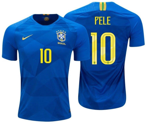 NIKE PELE BRAZIL AWAY JERSEY FIFA WORLD CUP 2018.