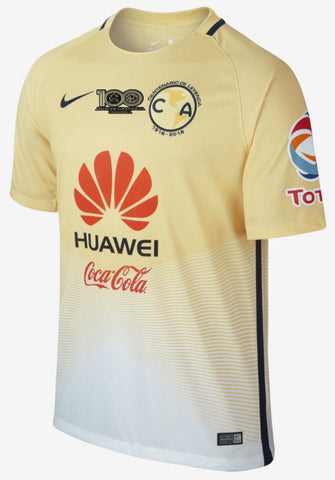NIKE CLUB AMERICA HOME CENTENARIO PATCH JERSEY 2016/17.