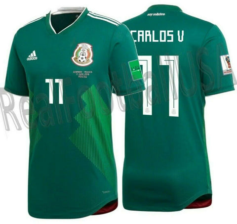 ADIDAS CARLOS VELA MEXICO AUTHENTIC HOME MATCH DETAIL JERSEY WORLD CUP 2018.