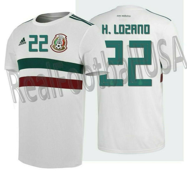outlet store 5a0ea b51c2 ADIDAS HIRVING LOZANO MEXICO AWAY JERSEY FIFA WORLD CUP 2018