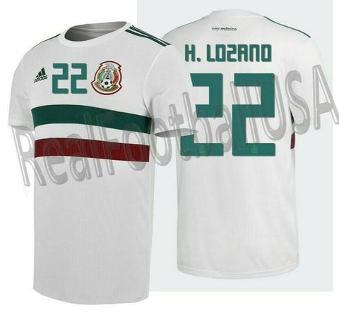 ADIDAS HIRVING LOZANO # 22 MEXICO AWAY JERSEY FIFA WORLD CUP 2018