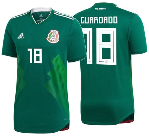 ADIDAS ANDRES GUARDADO MEXICO AUTHENTIC MATCH HOME JERSEY FIFA WORLD CUP 2018.