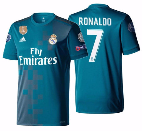 Adidas Ronaldo Real Madrid Authentic UEFA Champions League Third Jersey 2017/18 AZ8061
