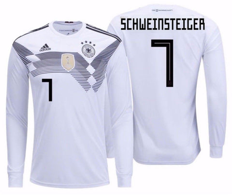 b83b59f18 ADIDAS BASTIAN SCHWEINSTEIGER GERMANY LONG SLEEVE HOME JERSEY FIFA WORLD  CUP 2018.