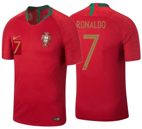 NIKE CRISTIANO RONALDO PORTUGAL VAPORKNIT VAPOR MATCH AUTHENTIC HOME JERSEY FIFA WORLD CUP 2018.