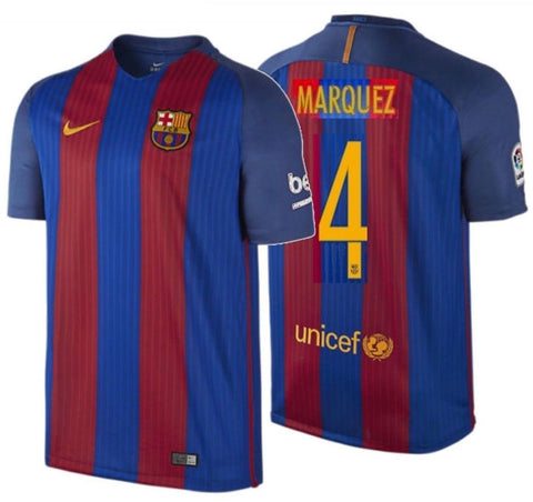 c91c353a5 NIKE RAFAEL MARQUEZ FC BARCELONA HOME JERSEY 2016 17 ...