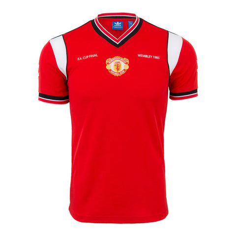 ADIDAS ORIGINALS MANCHESTER UNITED WEMBLEY 1985 F.A. CUP FINAL JERSEY Red/Black.