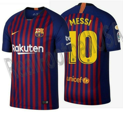 NIKE LIONEL MESSI FC BARCELONA HOME JERSEY 2018/19 LA LIGA WINNERS PATCH.