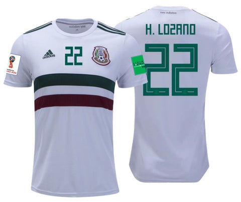 Adidas Lozano Mexico Away Jersey 2018 BQ4689 FIFA Patches