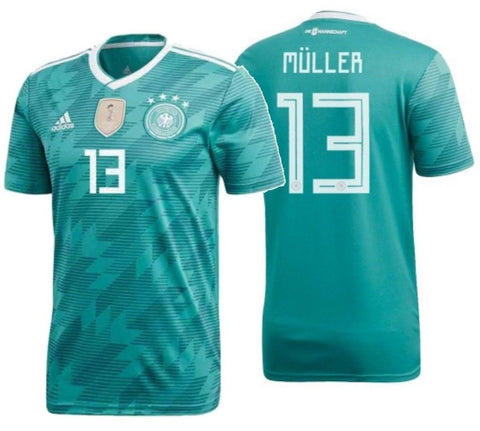 sports shoes 61324 51986 ADIDAS THOMAS MULLER GERMANY AWAY JERSEY FIFA WORLD CUP 2018.