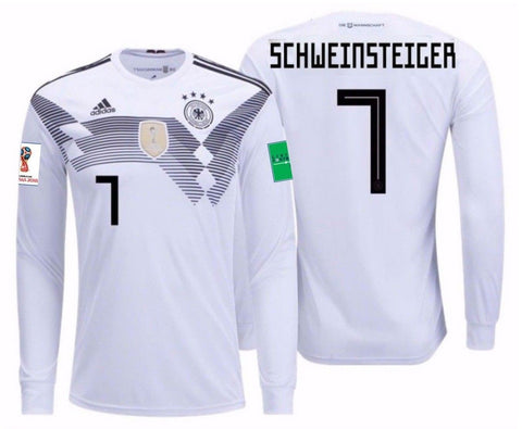 Adidas Schweinsteiger Germany Long Sleeve Home Jersey 2018 BR7830