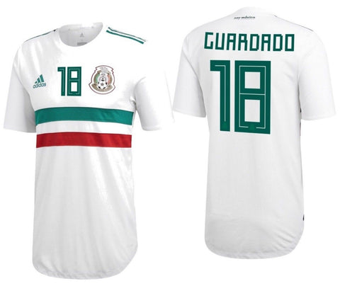 ADIDAS ANDRES GUARDADO MEXICO AUTHENTIC AWAY PLAYERS JERSEY FIFA WORLD CUP 2018.