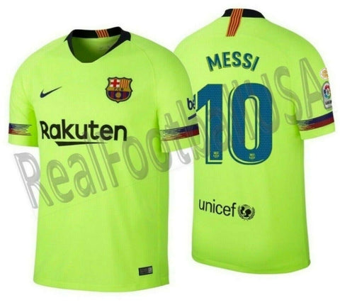 NIKE LIONEL MESSI FC BARCELONA AWAY JERSEY 2018/19 LA LIGA WINNERS PATCH.
