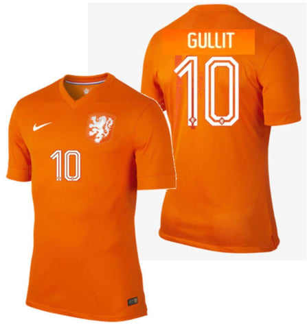 NIKE RUUD GULLIT NETHERLANDS AUTHENTIC HOME JERSEY FIFA WORLD CUP 2014.