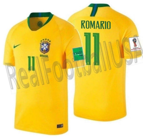 Nike Romario Brazil Home Jersey 2018 FIFA Patches 893856-749