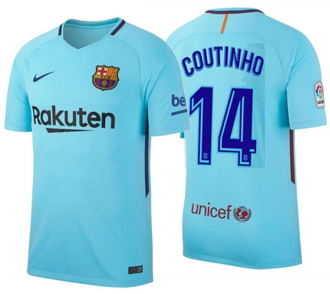 NIKE PHILIPPE COUTINHO FC BARCELONA AWAY JERSEY 2017/18.