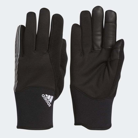 ADIDAS UNI WINTER FIELD PLAYER TRAINING CLIMAWARM GLOVES RUNNING Black/White.
