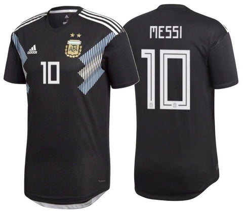 ADIDAS LIONEL MESSI ARGENTINA AUTHENTIC AWAY MATCH JERSEY FIFA WORLD CUP 2018.