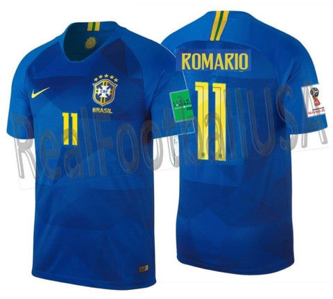 Nike Romario Brazil Away Jersey 2018 FIFA PATCHES 893855-453