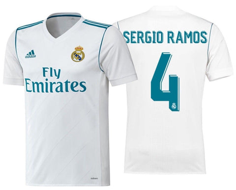 ADIDAS SERGIO RAMOS REAL MADRID AUTHENTIC ADIZERO HOME MATCH JERSEY 2017/18.