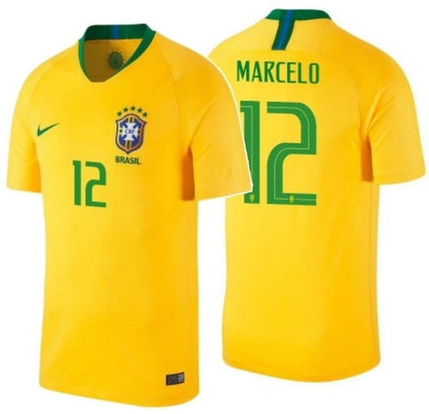 NIKE MARCELO BRAZIL HOME JERSEY FIFA WORLD CUP 2018.