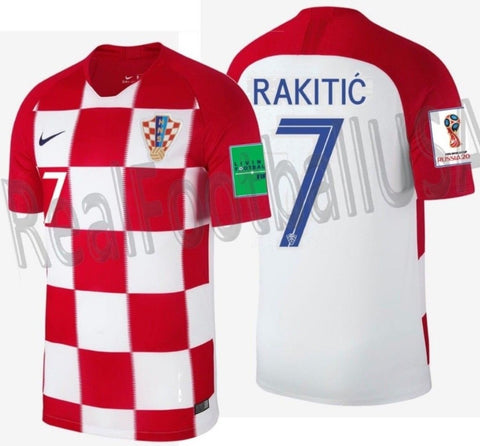NIKE IVAN RAKITIC CROATIA HOME JERSEY FIFA WORLD CUP 2018.