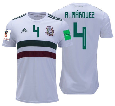 89947d2e6 ADIDAS RAFAEL MARQUEZ MEXICO AWAY JERSEY WORLD CUP 2018 PATCHES ...
