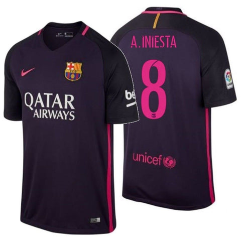 NIKE ANDRES INIESTA FC BARCELONA AWAY JERSEY 2015/16 776844-525