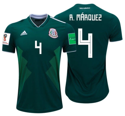 ADIDAS RAFAEL MARQUEZ MEXICO HOME JERSEY WORLD CUP 2018 PATCHES ...