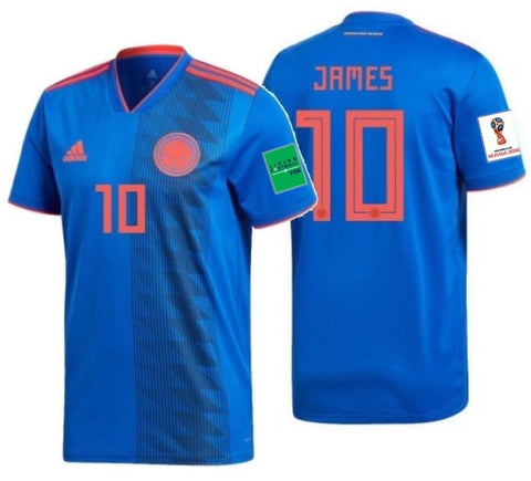 ADIDAS JAMES RODRIGUEZ COLOMBIA AWAY JERSEY WORLD CUP 2018 PATCHES