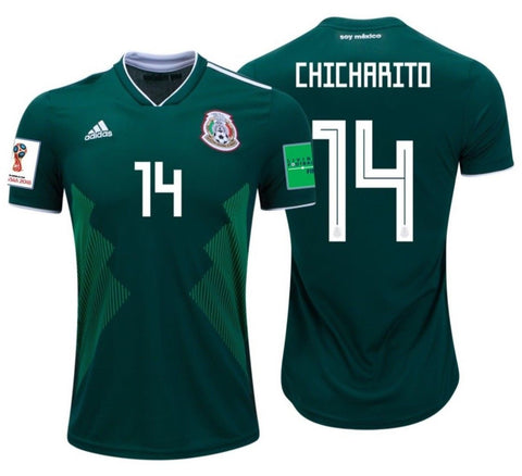 Adidas Chicharito Mexico Home Jersey 2018 BQ4701