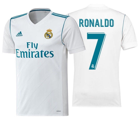 ADIDAS CRISTIANO RONALDO REAL MADRID AUTHENTIC ADIZERO HOME MATCH JERSEY 2017/18.