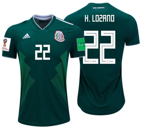03787b744 ADIDAS HIRVING LOZANO MEXICO HOME JERSEY WORLD CUP 2018 PATCHES ...