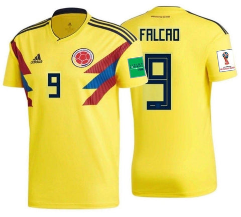 ADIDAS RADAMEL FALCAO COLOMBIA HOME JERSEY WORLD CUP 2018 PATCHES.
