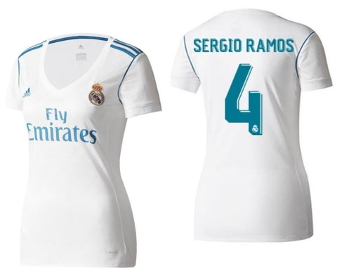 Adidas Sergio Ramos Real Madrid Women's Home Jersey 2017/18 B31110