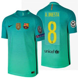 NIKE ANDRES INIESTA FC BARCELONA AUTHENTIC VAPOR MATCH UEFA CHAMPIONS LEAGUE THIRD JERSEY 2016/17.