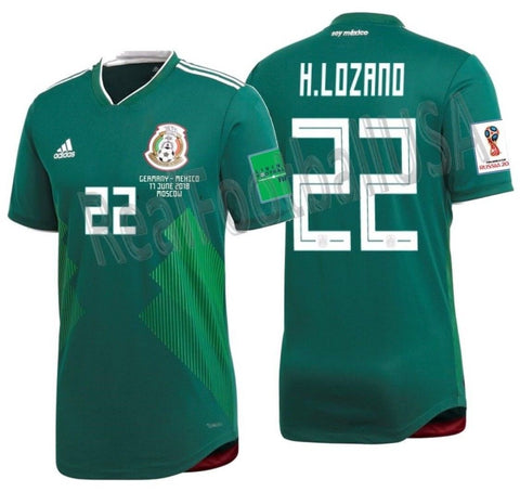 26105d5cc85 ADIDAS HIRVING LOZANO MEXICO AUTHENTIC HOME MATCH DETAIL JERSEY ...