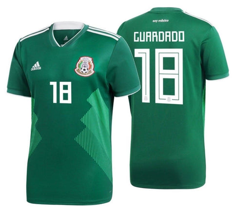 ADIDAS ANDRES GUARDADO MEXICO HOME JERSEY FIFA WORLD CUP 2018.