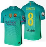 NIKE ANDRES INIESTA FC BARCELONA AUTHENTIC VAPOR MATCH UEFA CHAMPIONS LEAGUE THIRD JERSEY 2016/17 QATAR 1