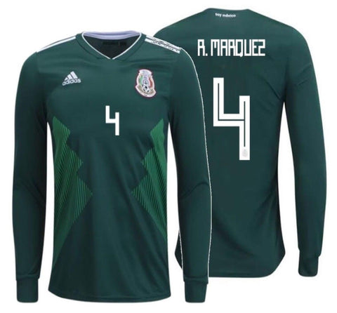 ADIDAS RAFAEL MARQUEZ MEXICO LONG SLEEVE HOME JERSEY FIFA WORLD CUP 2018.