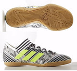 ADIDAS NEMEZIZ TANGO 17.3 INDOOR SOCCER SHOES White/Solar Yellow 1