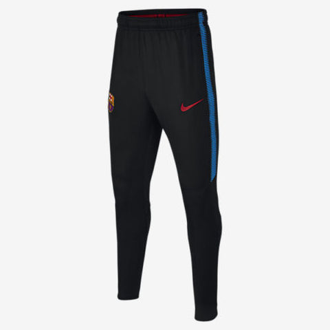 NIKE FC BARCELONA DRY SQUAD YOUTH TRAINING PANTS Black/Soar/University Red.