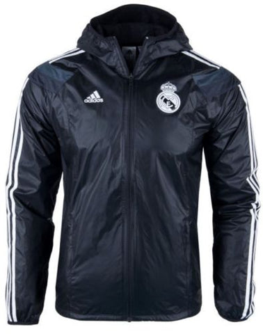 ADIDAS REAL MADRID ANTHEM WOVEN JACKET Black/White.