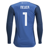 ADIDAS MANUEL NEUER GERMANY HOME GOALKEEPER JERSEY FIFA WORLD CUP 2018 PATCH 2