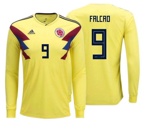 ADIDAS RADAMEL FALCAO COLOMBIA LONG SLEEVE HOME JERSEY FIFA WORLD CUP 2018.