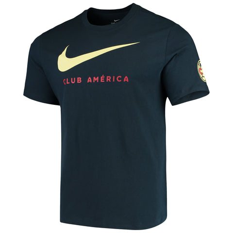 NIKE CLUB AMERICA AGUILAS LARGE SWOOSH T-SHIRT Navy.