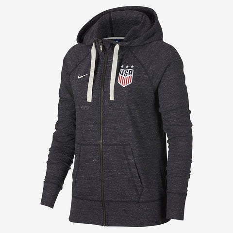 NIKE USA WOMEN'S GYM VINTAGE FULL ZIP HOODIE 2018.